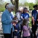 About 40 from St. Bernard and other local parishes gathered last Saturday for a prayer rally to celebrate the 100th anniversary of the first apparition of Our Lady of Fatima.